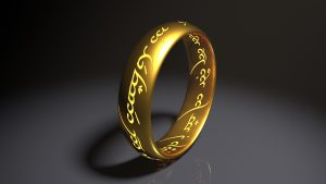 ring from The Lord of the Rings that Orlando Bloom acted in