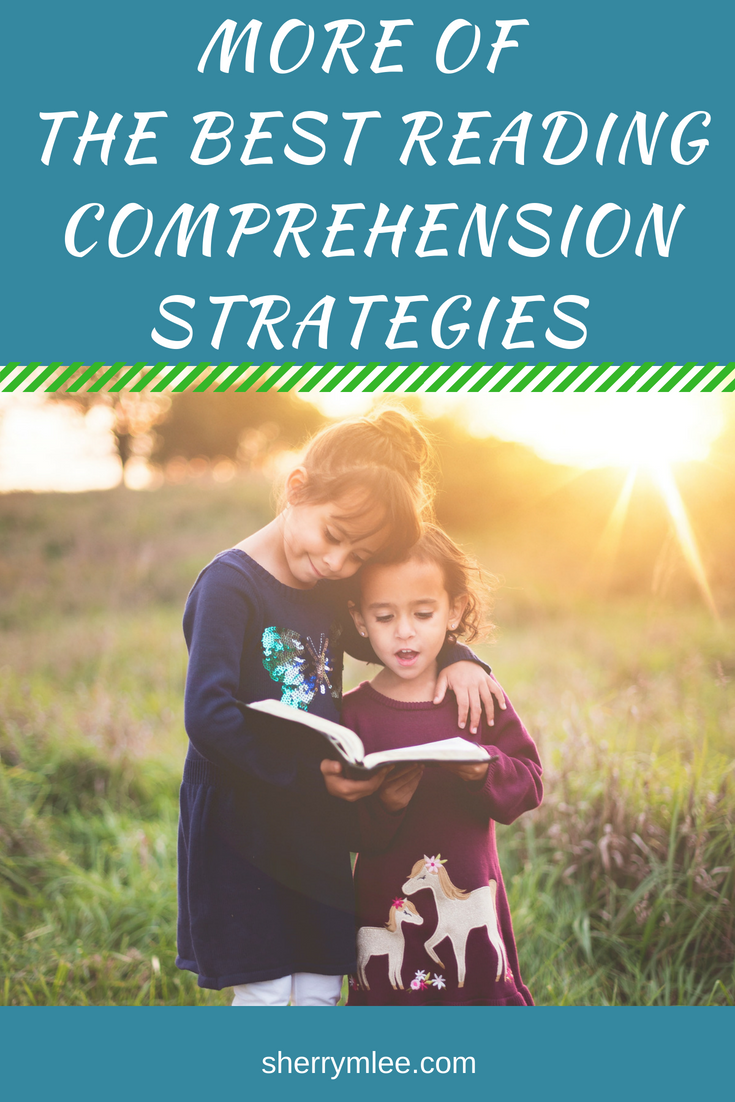 More of the Best Reading Comprehension Strategies! Reading comprehension strategies are so important to teach to our children! They make the difference between simply reading words and becoming actively engaged with what is being read. Here are even more of the best reading comprehension strategies! reading comprehension; how to teach reading comprehension; how to teach reading strategies #readingcomprehension