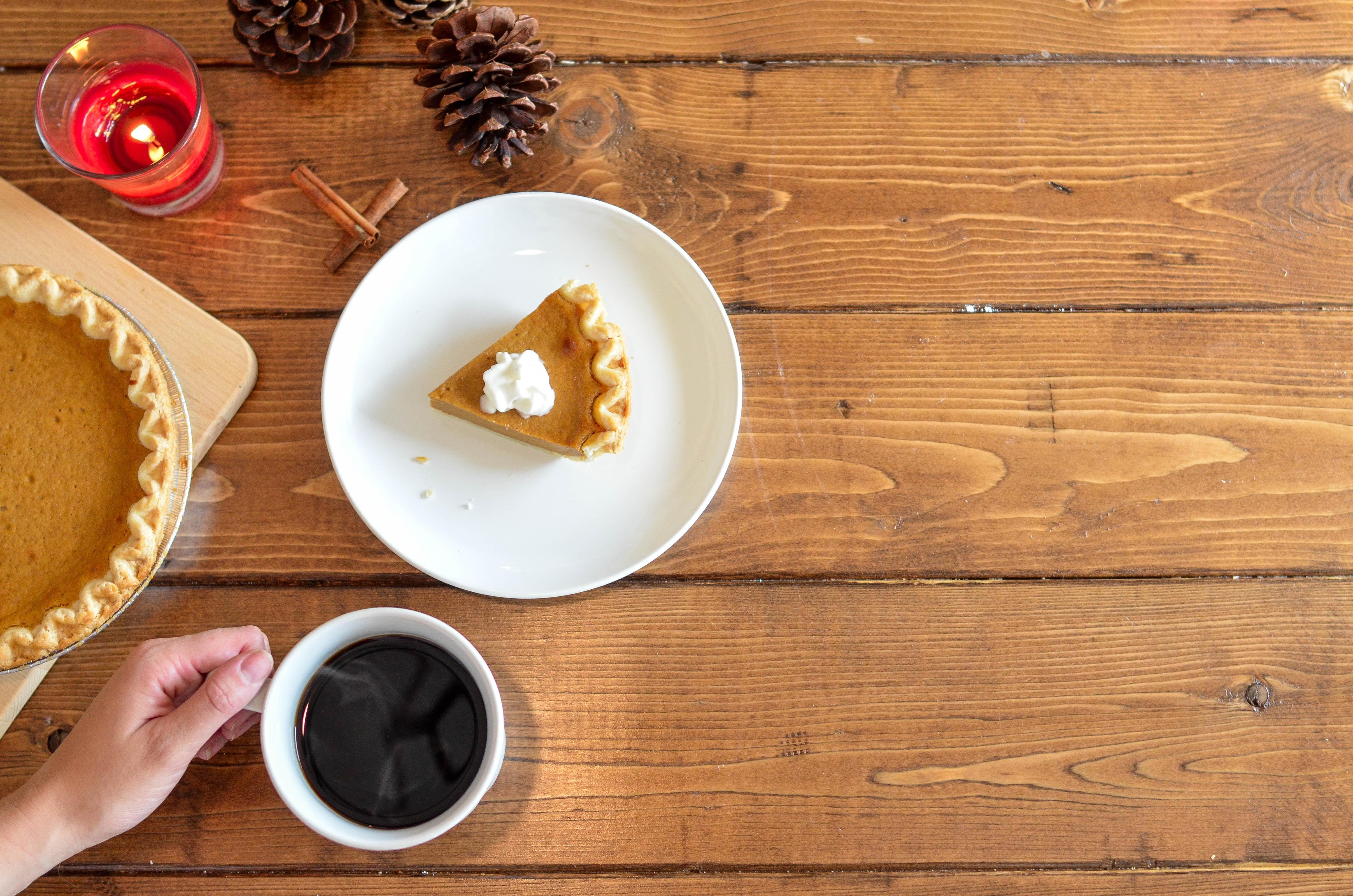 pumpkin pie at Thanksgiving