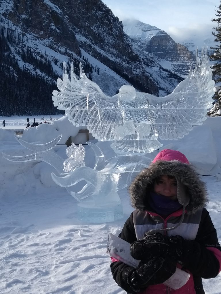 When there are special activities near us,I often get plagued by 'there's always next year-itis!' However, maybe it's time to count my staycation blessings. staycation ideas; Lake Louise Canada; Banff Canada winter; Canada winter vacation; Lake Louise Magic Ice Festival #lakelouise #banffnationalpark #banff