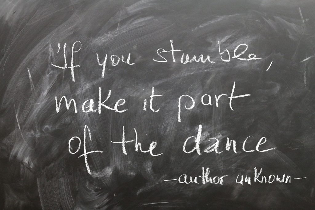 If you stumble, make it part of the dance - author unknown There may be some stumbling as individuals work through a learning disability. However, there are still strengths to embrace.