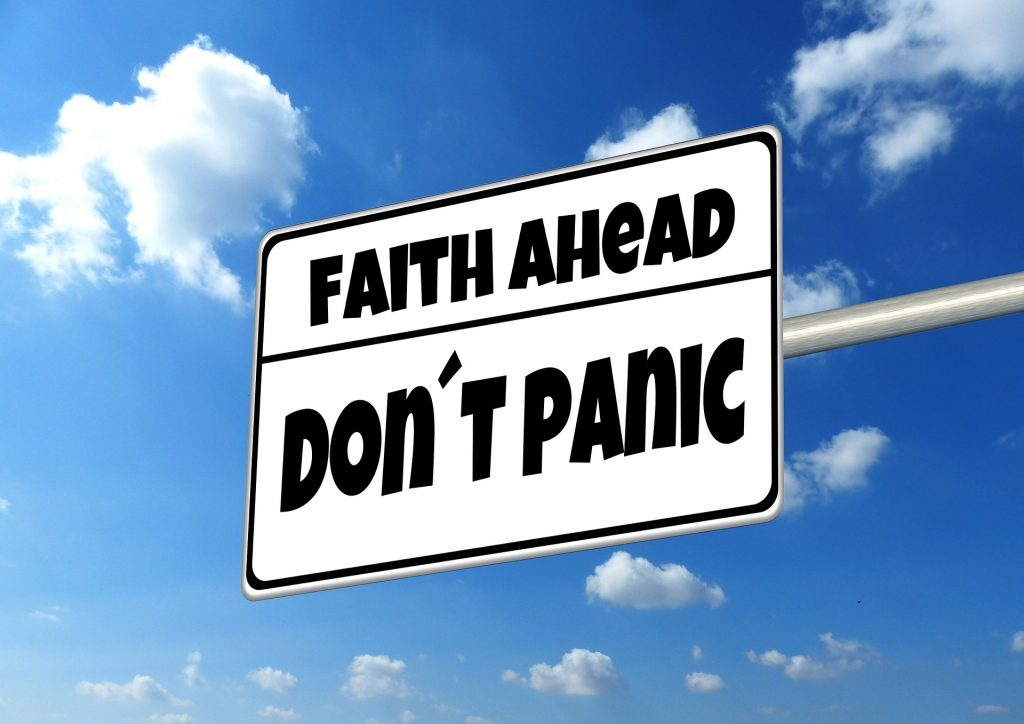 Faith Ahead... Don't Panic sign; Looking at how a learning disability is diagnosed