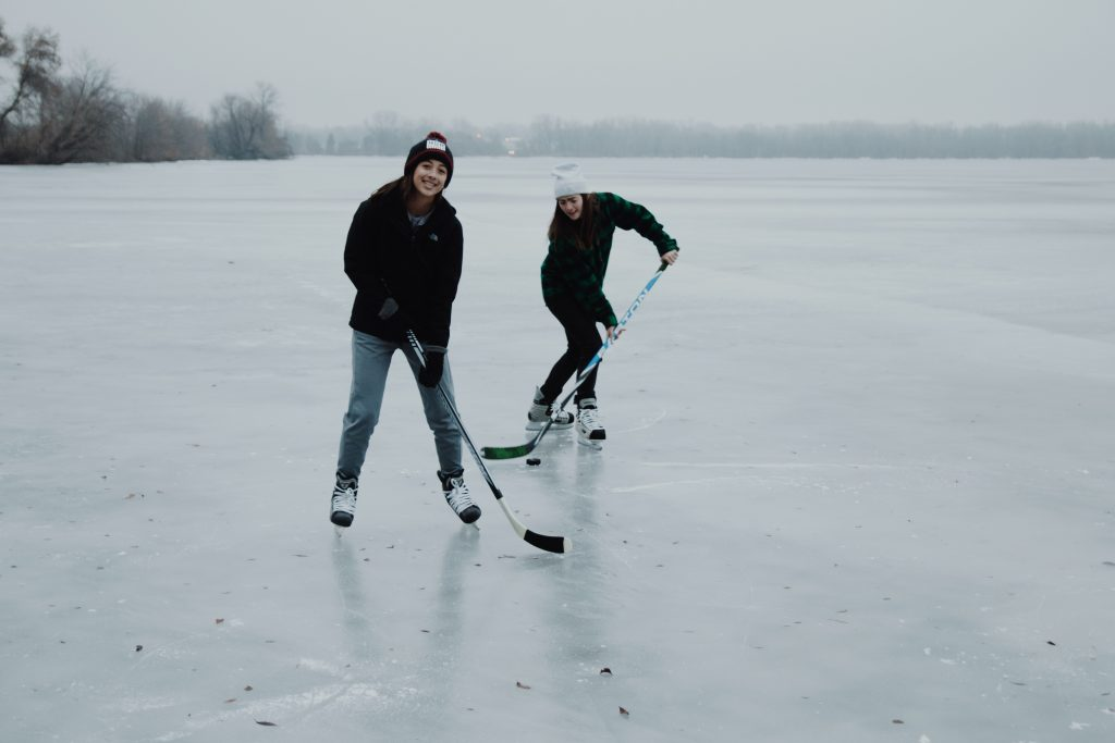 pond hockey; appreciation for living an active life