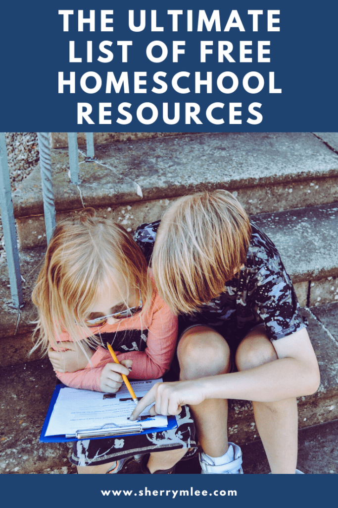 The Ultimate List of Free Homeschool Resources; free homeschool curriculum; free homeschool printables; homeschooling how to start; homeschooling high school; unschooling ideas; homeschooling hacks; Spanish homeschool curriculum; French homeschool curriculum; homeschooling for free #homeschooling